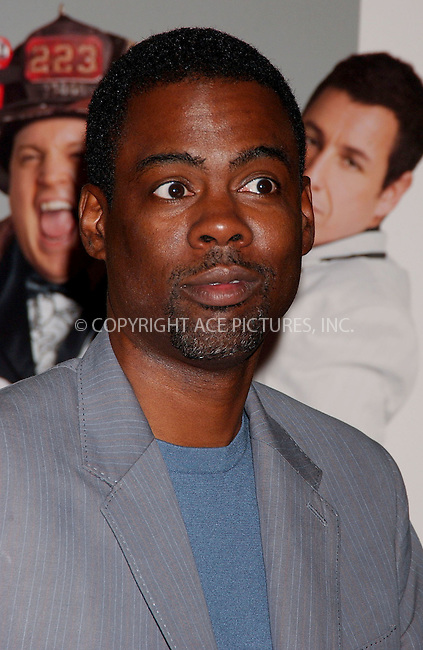 WWW.ACEPIXS.COM . . . . .....July 18, 2007. New York City,....Actor Chris Rock arrives at the 'I Now Pronounce You Chuck and Larry' premiere held at Ziegfeld Theater in New York City...  ....Please byline: Kristin Callahan - ACEPIXS.COM..... *** ***..Ace Pictures, Inc:  ..Philip Vaughan (646) 769 0430..e-mail: info@acepixs.com..web: http://www.acepixs.com