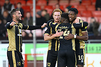 Chuks Aneke (10) of MK Dons celebrates his goal in the second half and the forth for his team during Crawley Town vs MK Dons, Sky Bet EFL League 2 Football at Broadfield Stadium on 3rd November 2018