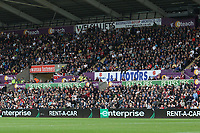 The eteach stand with adverts from swanseafasteners, J&J Motors, enterprise, Welsh Lifts and Peters Pies during the Premier League match between Swansea City and Huddersfield Town at The Liberty Stadium, Swansea, Wales, UK. Saturday 16 October 2017