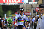 World Champion Peter Sagan (SVK) Bora-Hansgrohe outsprints Michael Matthews (AUS) Team Sunweb and Dan MArtin (IRL) Quick-Step Floors at the finish of Stage 3 of the 104th edition of the Tour de France 2017, running 212.5km from Verviers, Belgium to Longwy, France. 3rd July 2017.<br /> Picture: Eoin Clarke | Cyclefile<br /> <br /> All photos usage must carry mandatory copyright credit (&copy; Cyclefile | Eoin Clarke)