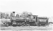 Fireman's-side view of RGS 2-8-0 #40.<br /> RGS  Ridgway, CO  Taken by Maxwell, John W. - 7/1/1941