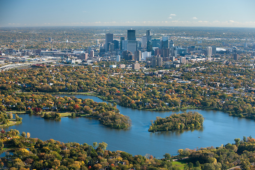 Autumn Aerial View Of Minneapolis Kruger Images