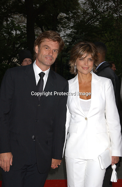 Harry Hamlin & wife Lisa Rinna                               ..at Gracie Mansion for the party for the Daytime Emmy's on ..May 15,2003 ...Photo by Robin Platzer, Twin Images