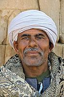 Portrait of Muslim man at Temple of Horus at Edfu, Egypt