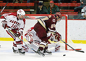 Sam Bozoian (Harvard - 18), Matt Lombardi (BC - 24) - The Boston College Eagles defeated the Harvard University Crimson 3-2 on Wednesday, December 9, 2009, at Bright Hockey Center in Cambridge, Massachusetts.