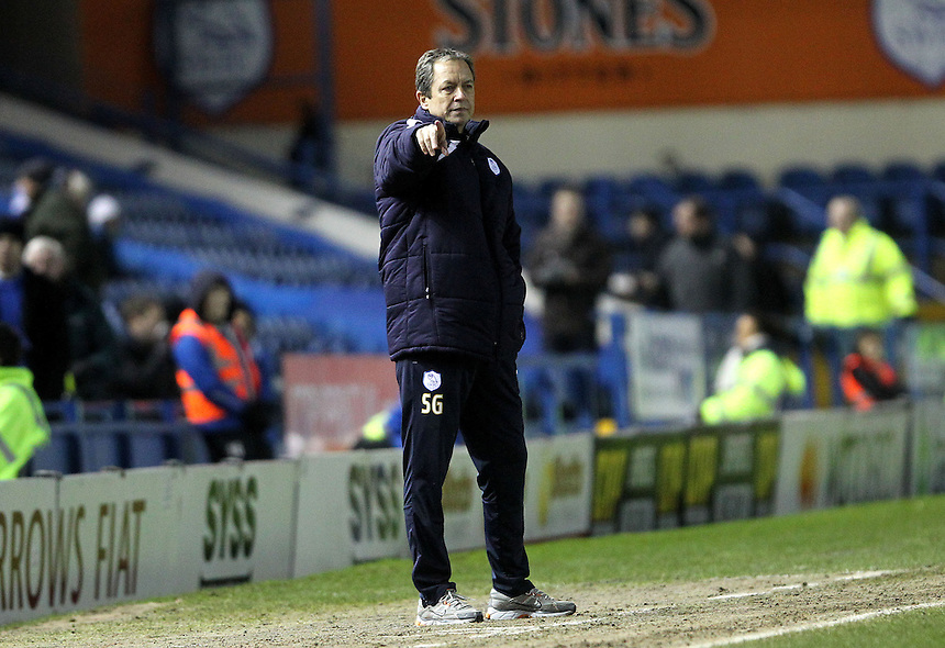 Sheffield Wednesday's Head Coach Stuart Gray <br />