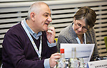 "BRUSSELS - BELGIUM - 23 November 2016 -- European Training Foundation (ETF) Conference on ""GETTING ORGANISED FOR BETTER QUALIFICATIONS"". -- Borcho Aleksov, Ministry of Education and Science - former Yugoslav Republic of Macedonia - HE department and chair of the NQF Board and Mirjam De Jong, ETF Specialist in Qualifications Systems. -- PHOTO: Juha ROININEN / EUP-IMAGES"