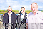 Gerard & Colin Reidy with John Lyne at the Portmagee regatta on Saturday.