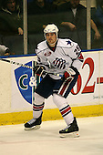 March 13, 2009:  Defenseman Jordan Henry (25) of the Rochester Amerks, AHL affiliate of the Florida Panthers, in the second period during a game at the Blue Cross Arena in Rochester, NY.  Toronto defeated Rochester 4-2.  Photo copyright Mike Janes Photography 2009