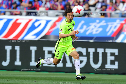 Tomoya Ugajin (Reds), <br /> APRIL 16, 2017 - Football / Soccer : <br /> 2017 J1 League match between F.C. Tokyo 0-1 Urawa Reds <br /> at Ajinomoto Stadium, Tokyo, Japan. <br /> (Photo by AFLO SPORT)