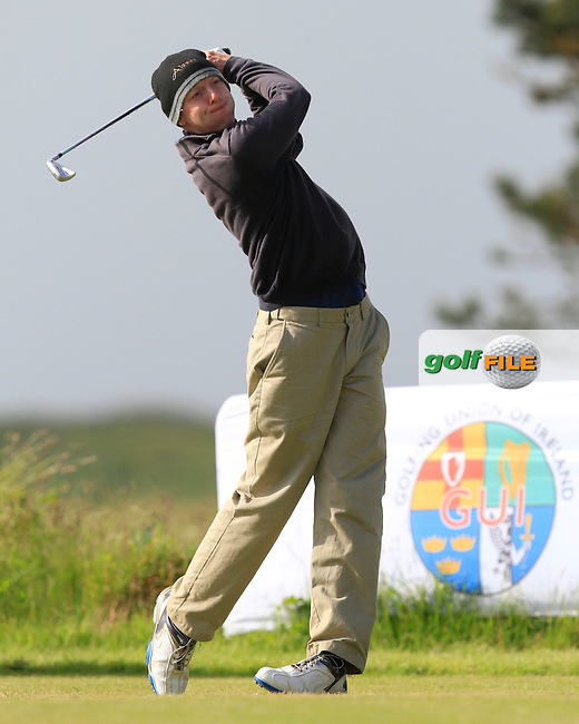 Seamus Cullen (Slieve Russell) on the 1st tee during Round 2 of the Irish Amateur Close Championship at Seapoint Golf Club on Sunday 8th June 2014.<br /> Picture:  Thos Caffrey / www.golffile.ie
