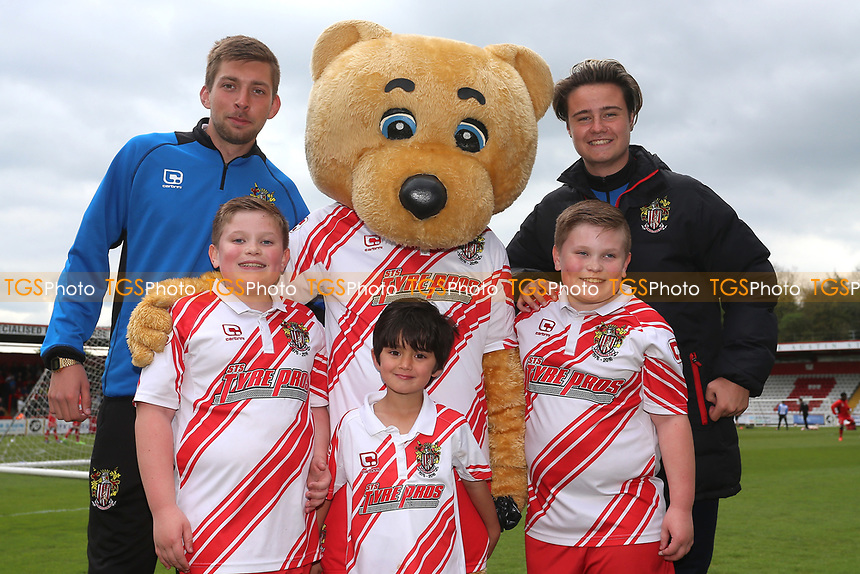 Stevenage mascots during Stevenage vs Morecambe, Sky Bet EFL League 2 Football at the Lamex Stadium on 14th April 2017