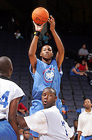C/F Xavier Gibson (Dothan, AL / Northview) shoots the ball during the NBA Top 100 Camp held Friday June 22, 2007 at the John Paul Jones arena in Charlottesville, Va. (Photo/Andrew Shurtleff)