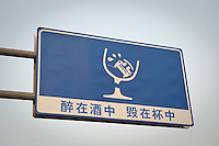 Daytime landscape view of automobile signage in the Heping District in Tiānjīn.  © LAN