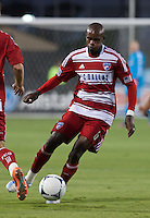 Santa Clara, California - Saturday July 18, 2012: FC Dallas' Jackson Goncalves controlling the ball during a game against San Jose Earthquakes at Buck Shaw Stadium, Stanford, Ca   San Jose Earthquakes defeated FC Dallas 2 - 1.