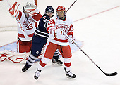 Grant Rollheiser (BU - 35), Anthony Bergin (Toronto - 27), Garrett Noonan (BU - 13) - The Boston University Terriers defeated the visiting University of Toronto Varsity Blues 9-3 on Saturday, October 2, 2010, at Agganis Arena in Boston, MA.