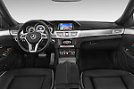 Stock photo of straight dashboard view of a 2015 Mercedes Benz Classe E E250 4Matic 5 Door Wagon 4WD Dashboard