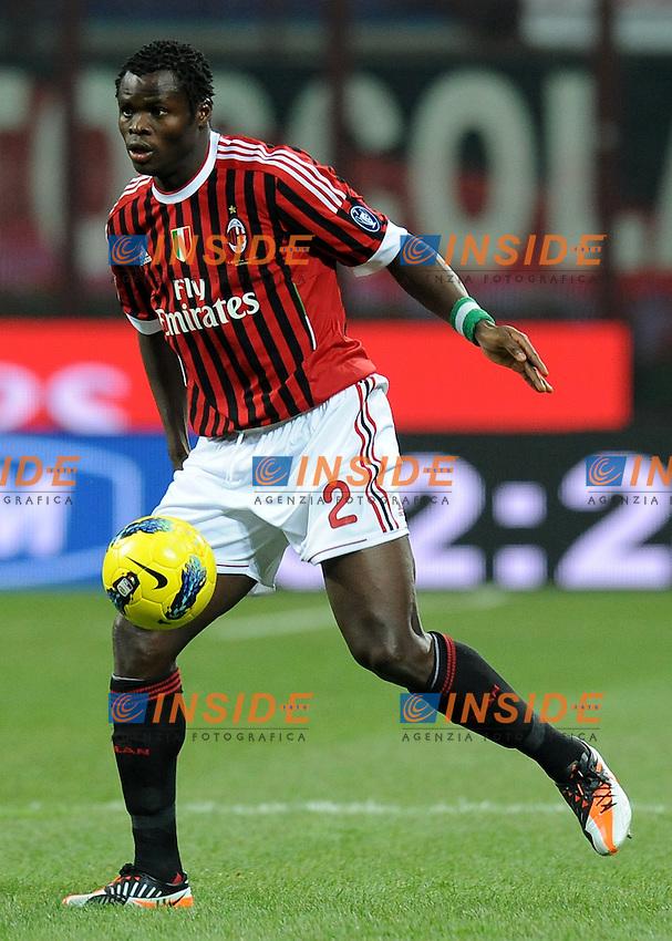 "Taye TAIWO (Milan).Milano 17/12/2011 Stadio ""Giuseppe Meazza"".Serie A 2011/2012.Football Calcio Milan Vs Siene.Foto Insidefoto Alessandro Sabattini."