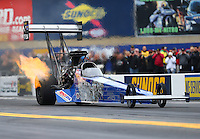 Oct 1, 2016; Mohnton, PA, USA; NHRA top fuel driver Smax Smith during qualifying for the Dodge Nationals at Maple Grove Raceway. Mandatory Credit: Mark J. Rebilas-USA TODAY Sports
