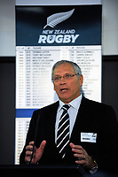 New NZR board vice-president Bill Osborne. The 2017 New Zealand Rugby Union Annual General Meeting at the New Zealand Rugby Union Head Office in Wellington, New Zealand on Thursday, 27 April 2017. Photo: Dave Lintott / lintottphoto.co.nz