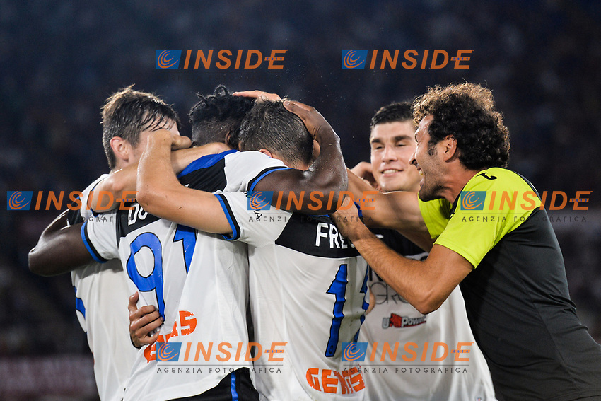 Duvan Zapata of Atalanta celebrating after scores a goal<br /> Roma 25-9-2019 Stadio Olimpico <br /> Football Serie A 2019/2020 <br /> AS Roma - Atalanta Bergamasca Calcio <br /> Foto Antonietta Baldassarre / Insidefoto