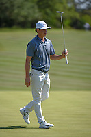 Cody Gribble (USA) after sinking is putt on 8 during Round 1 of the Valero Texas Open, AT&amp;T Oaks Course, TPC San Antonio, San Antonio, Texas, USA. 4/19/2018.<br /> Picture: Golffile | Ken Murray<br /> <br /> <br /> All photo usage must carry mandatory copyright credit (&copy; Golffile | Ken Murray)