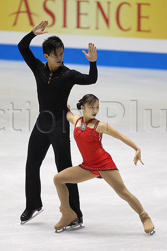 Narumi Takahashi & Mervin Tran (JPN), DECEMBER 3, 2009 - Figure Skating : ISU Grand Prix of Figure Skating Final 2009/2010 Junior Pairs Short Program at 1st Yoyogi Gymnasium, Tokyo, Japan. Photo by Yutaka/actionplus. UK Licenses only.