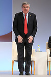Thomas Bach (President of the International Olympic Committee) appears at a ceremony on MARCH 13, 2015 in Tokyo, Japan to announce Toyota's sponsorship of the Olympic movement. Japanese auto maker Toyota signed up to become a top level Official Worldwide Olympic Partner. (Photo by Yohei Osada/AFLO SPORT) [1156]