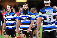 Kane Palma-Newport of Bath Rugby looks on after the match. Aviva Premiership match, between Bath Rugby and Saracens on December 3, 2016 at the Recreation Ground in Bath, England. Photo by: Patrick Khachfe / Onside Images