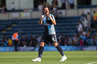Paul Hayes of Wycombe Wanderers celebrates his teams victory during the Sky Bet League 2 match between Wycombe Wanderers and York City at Adams Park, High Wycombe, England on 8 August 2015. Photo by Andy Rowland.