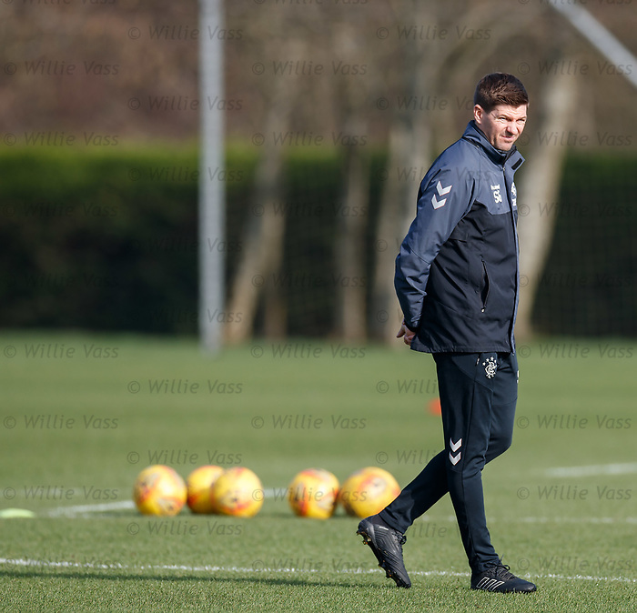 26.02.2019 Rangers training: Steven Gerrard