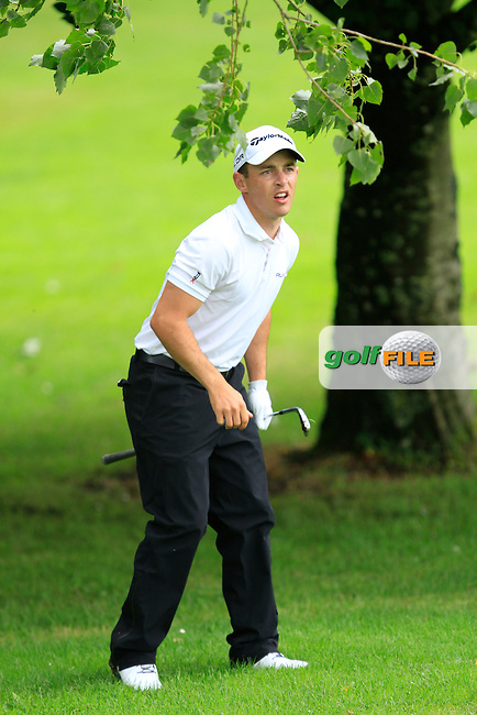 Daniel Holland (Castle) on the 8th during round 1 of The Mullingar Scratch Cup in Mullingar Golf Club on Sunday 3rd August 2014.<br /> Picture:  Thos Caffrey / www.golffile.ie