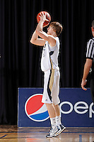 12 January 2012:  FIU guard Tanner Wozniak (23) shoots in the first half as the Middle Tennessee State University Blue Raiders defeated the FIU Golden Panthers, 70-59, at the U.S. Century Bank Arena in Miami, Florida.