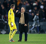 28.11.2019: Feyenoord v Rangers: Dick Advocaat with Allan McGregor at full time