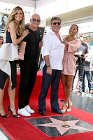 LOS ANGELES - AUG 22:  Heidi Klum, Howie Mandel, Simon Cowell, Mel Brown at the Simon Cowell Star Ceremony on the Hollywood Walk of Fame on August 22, 2018 in Los Angeles, CA