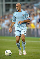 Sporting defender Aurelien Collin (78) in action..Sporting Kansas City defeated Colorado Rapids 2-0 in Open Cup play at LIVESTRONG Sporting Park, Kansas City, Kansas.
