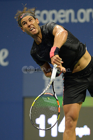 FLUSHING NY- SEPTEMBER 04: Rafael Nadal Vs Fabio Fognini on Arthur Ashe Stadium at the USTA Billie Jean King National Tennis Center on September 4, 2015 in Flushing Queens. Credit: mpi04/MediaPunch