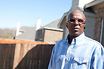 DNA Exonerated prisoner Thomas McGowan, stands in the backyard of his home in Garland, Texas.