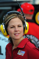 Nov. 14, 2008; Homestead, FL, USA; ESPN reporter Shannon Spake during qualifying for the Ford 400 at Homestead Miami Speedway. Mandatory Credit: Mark J. Rebilas-