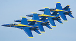 The Gazette. The famed Blue Angels fly in a tight formation during their performance at the Joint Services Open House Andrews Air Force Base Air Show on Saturday afternoon.