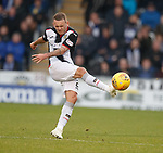 20.10.2018 St Mirren v Kilmarnock: Lee Hodson boots the ball away and is booked