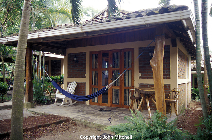 A cabin a the Hotel Villa Paraiso on Isla de Ometepe, Nicaragua. This is the best hotel on the island of Ometepe.