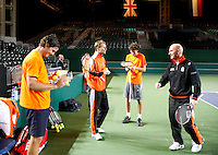 4-4-07, England, Birmingham, Tennis, Daviscup England-Netherlands, training, good atmosphere