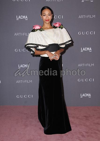 04 November  2017 - Los Angeles, California - Zoe Saldana. 2017 LACMA Art+Film Gala held at LACMA in Los Angeles. Photo Credit: Birdie Thompson/AdMedia