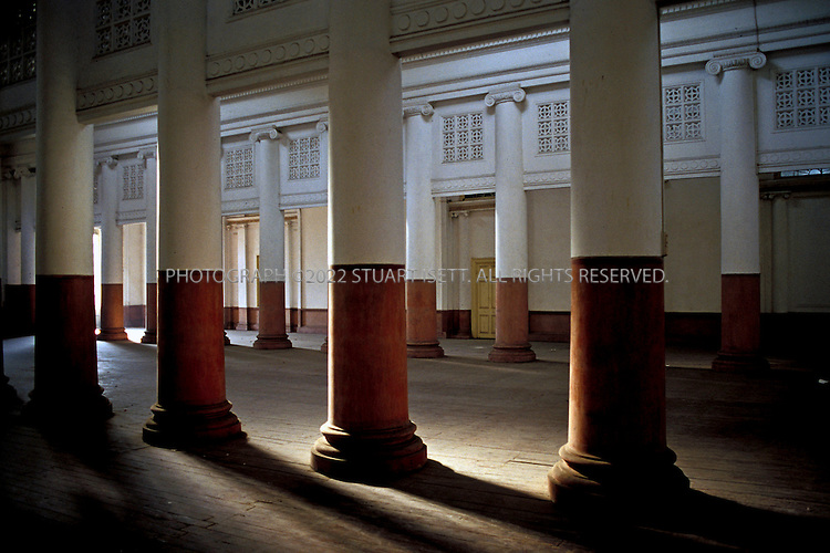 12/2/2006--Calcutta, India..TOWN HALL (1813). This historical Hall was a venue for public meetings and social gatherings built by the British. The construction of the Hall was completed in 1814 in Doric style of architecture...All photographs ©2007 Stuart Isett.All rights reserved...Photograph ©2007 Stuart Isett.All rights reserved