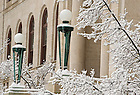 Mar.12, 2014; Bond Hall after snow storm. Photo by Barbara Johnston/University of Notre Dame