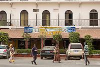 Senegal, Saint Louis.  Hotel de la Poste, Historic Hotel from the Colonial Era.