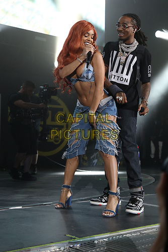 NEW YORK, NY - JUNE 2, 2019 Saweetie & Quavo perform  at Summer Jam at Met Life Stadium, June 2, 2019 in East Rutherford, NJ. <br /> CAP/MPIWG<br /> ©WG/MPI/Capital Pictures