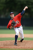 Atlanta Braves pitcher Matt Marksberry (48) during an Instructional League game against the Houston Astros on September 22, 2014 at the ESPN Wide World of Sports Complex in Kissimmee, Florida.  (Mike Janes/Four Seam Images)