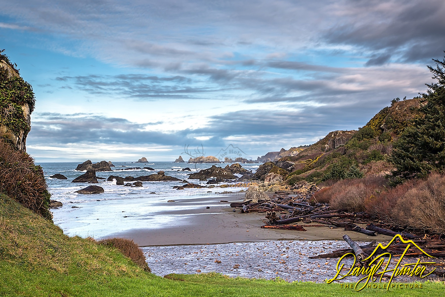 Lone Beach on the rugged coast of southern Oregon